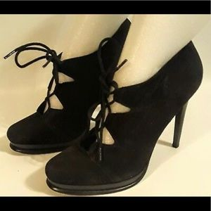 DVF Diana Von furstenburg black lace heels s 6 1/2